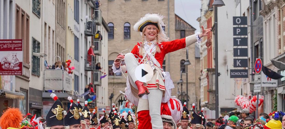 Größte Veranstaltung unter freiem Himmel: <br/>Rosenmontagsumzug in Köln